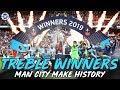HISTORIC DOMESTIC TREBLE WINNERS | MAN CITY 6-0 WATFORD FA CUP FINAL