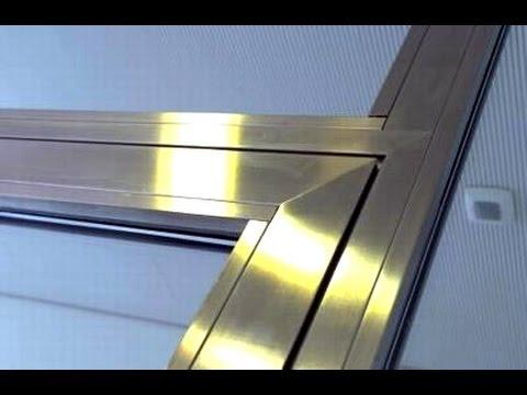 Como hacer ventanas de aluminio a cuadros youtube for Como fabricar ventanas de aluminio