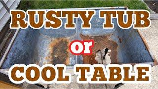 Upcycled Washing Tub Table