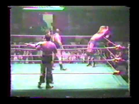 Jacques Jr  & Raymond Rougeau vs  Frenchy Martin & Pierre Lefebvre (September 30, 1985)