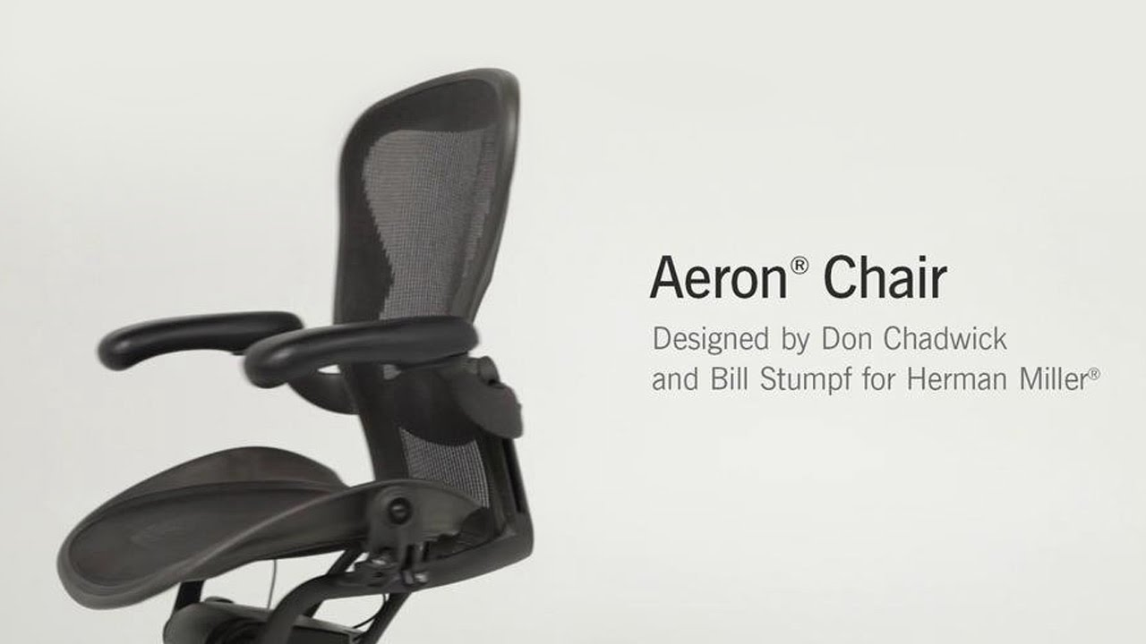 Chair With Lumbar Support aeron chair with lumbar support - youtube