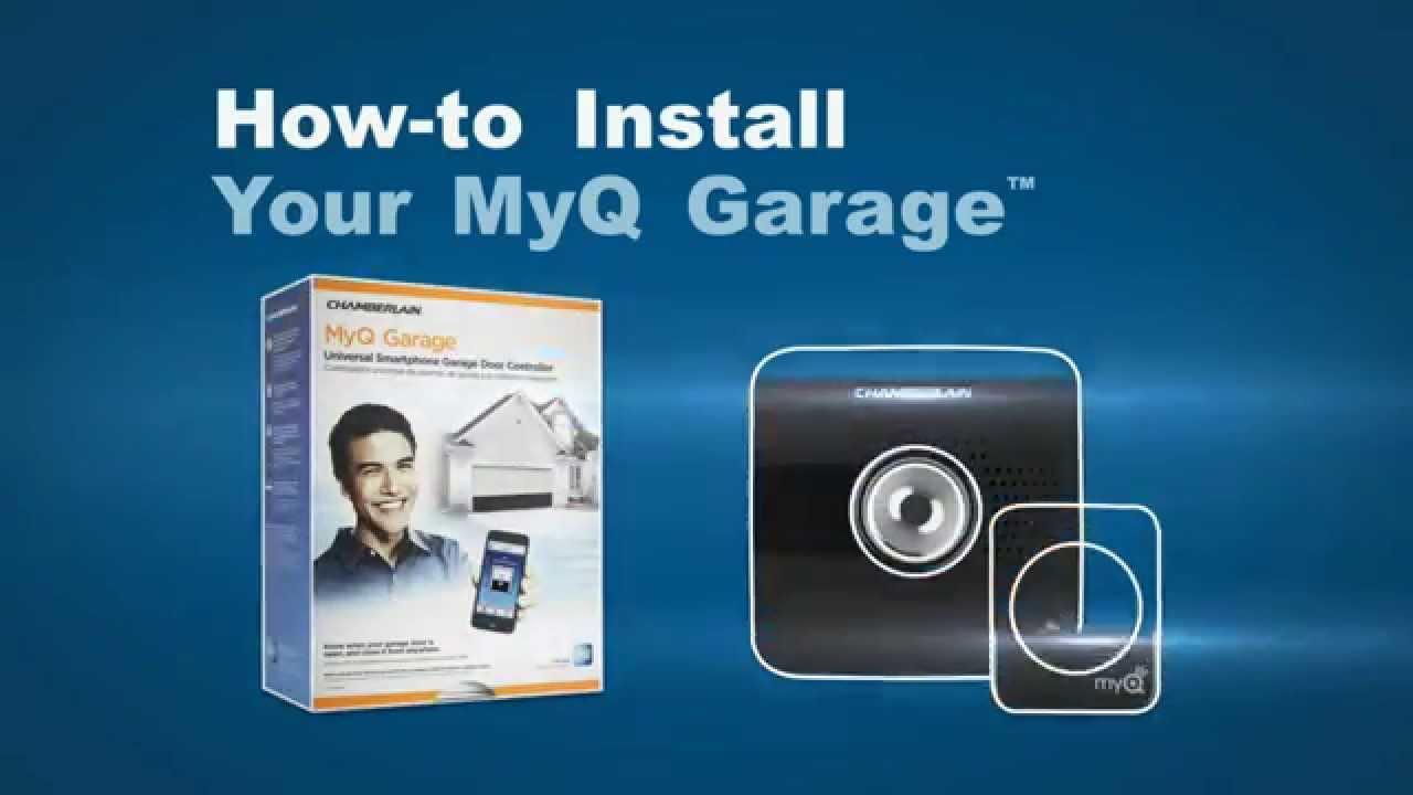 Myq Garage Install Chamberlain Garage Door Openers Youtube