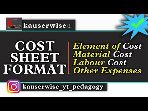 Cost and Management accounting by kauserwise - YouTube