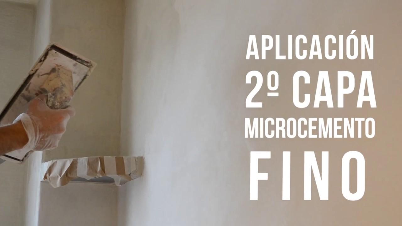 Aplicacion de microcemento alcopedi youtube - Microcemento sobre azulejos ...