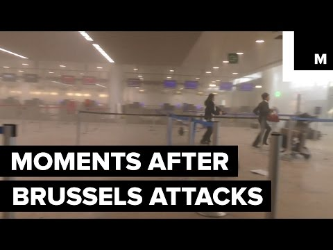 Raw Footage Shows Brussels Airport and Metro Moments After Attacks
