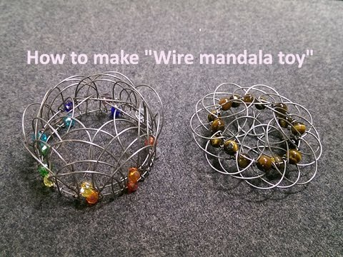 Wire mandala toy - How to make wire decorations 241