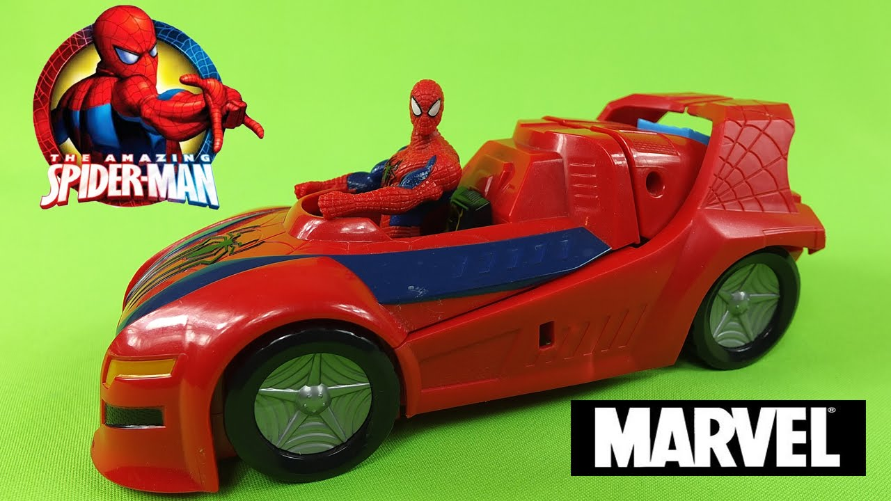 The Amazing Spiderman With Super Car Toys Full Hd