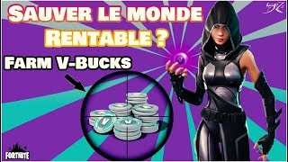 [Fortnite] PVE RENTABLE FOR FARMER THE V-BUCKS?! Explanations! - Saving the World