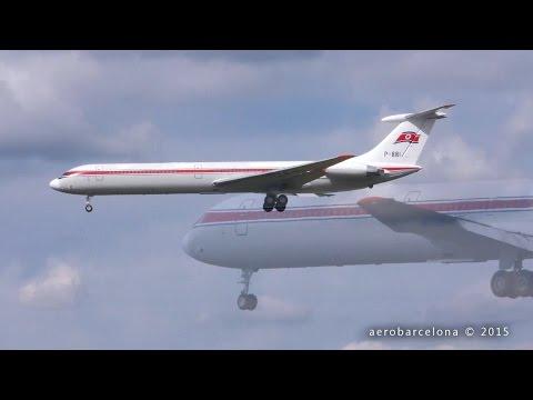 [FULL HD] Air Koryo IL-62M P-881 REVERSE THRUST BEFORE LANDING! at Moscow - Sheremetyevo