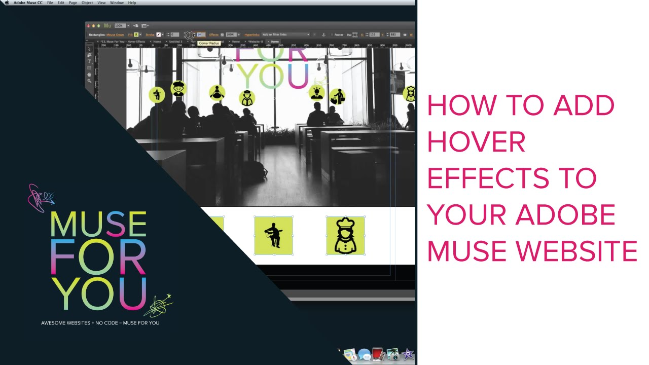 How to Add Hover Effects to Your Adobe Muse CC Website