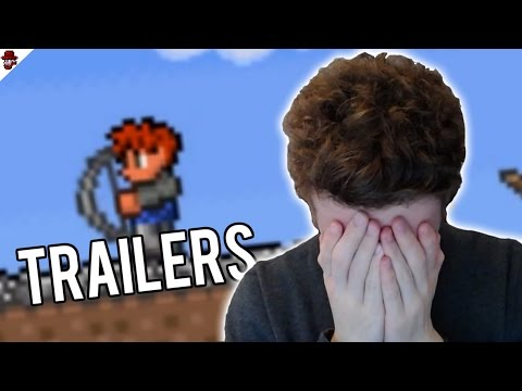 REACTING TO OLD TERRARIA TRAILERS!!