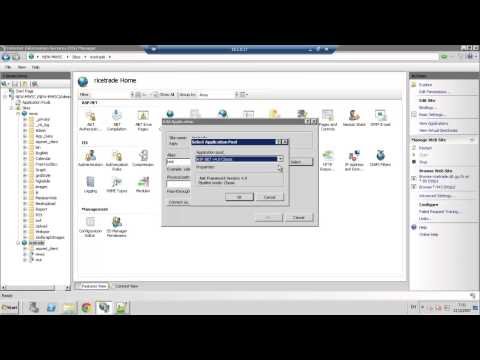 How to create application in IIS