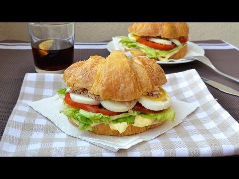 Ham, Tuna & Egg Salad on Croissant - Quick & Easy Croissant Sandwich Recipe