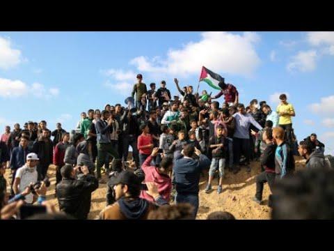 إضراب عام ودعوات لمواصلة الاحتجاجات بعد مقتل فلسطينيين في ذكرى -يوم الأرض-