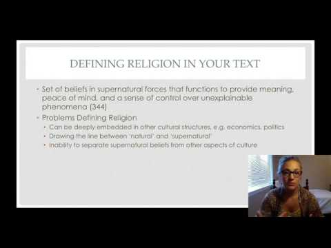 Religion as a Social Phenomenon; Defining Religion