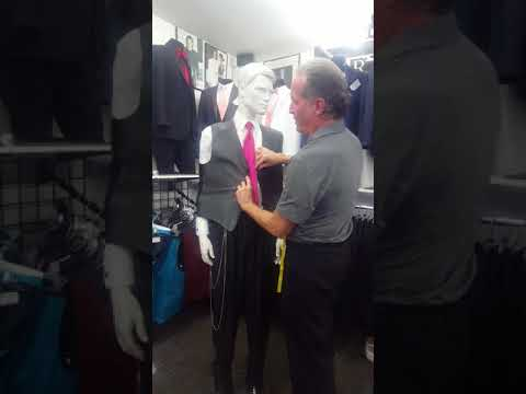 How To Professionally Measure Someone For A Suit Or Tuxedo.