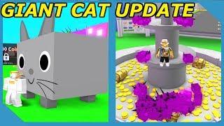 Aggiornamento Giant Cat - Miglior animale domestico nel gioco Roblox Pet Simulator