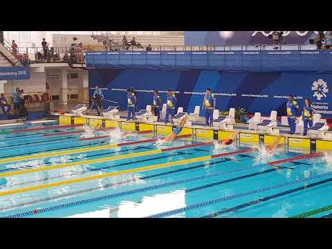 Virdhawal Khade - 50 butterfly heats at the Asian Games Jakarta 2018 - 24.09