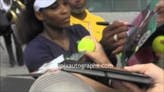 Serena Williams - Signing Autographs at 2012 U.S.Open in NYC
