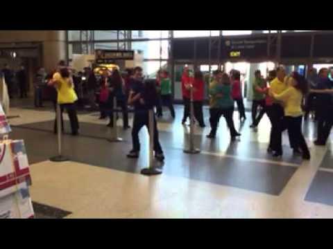 WCS Flashmob at LAX. 12-13-14