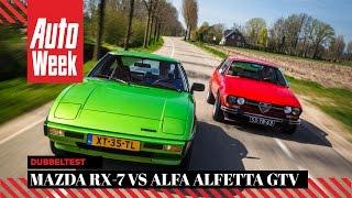Alfa Romeo Alfetta GTV (1976) vs Mazda RX7 (1979)
