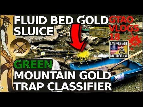 Fluid Bed GOLD Sluice   GREEN MOUNTAIN GOLD TRAP Classifier