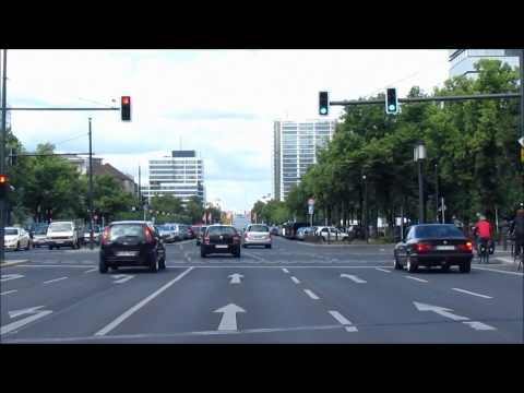 Driving in Berlin Streets, Germany