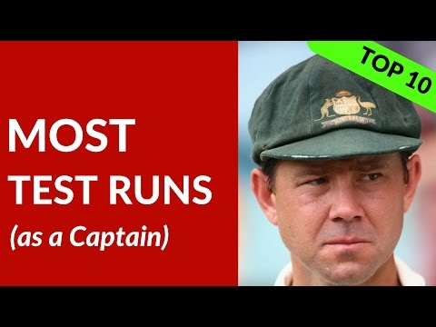 MOST RUNS as a Captain in Test Cricket   GRAEME Smith, PONTING, MISBAH, LARA