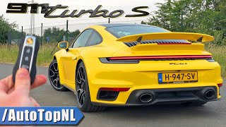 2021 PORSCHE 911 992 TURBO S *340km/h* REVIEW on AUTOBAHN [NO SPEED LIMIT] by AutoTopNL