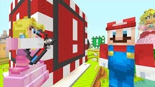 Minecraft Wii U - Super Mario Series - Peach Shoots Mario! [114]