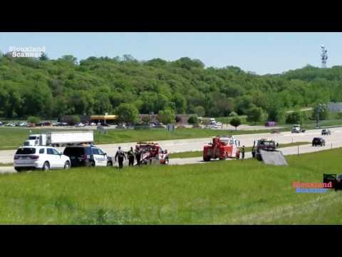 Iowa South Dakota Pursuit of vehicle driving 110mph ends in crash