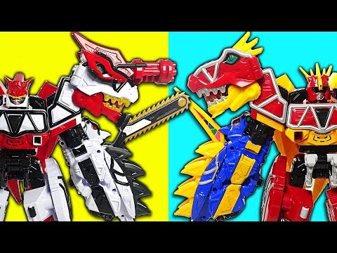 Thumbnail: Return of Legend! Power Rangers Dino Charge Brave part.1 - White vs Red - DuDuPopTOY