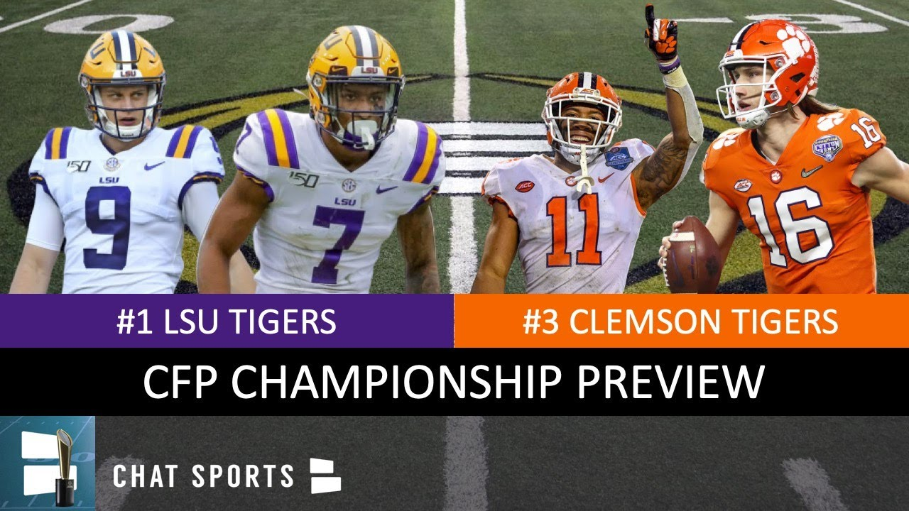 Who Won Lsu Or Clemson >> Lsu Vs Clemson College Football Playoff National Championship Preview And Prediction