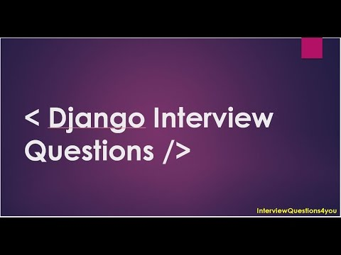 django developer Interview Questions | python web developmen