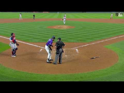 Charlie Blackmon and Bud Black get ejected arguing a umpire's horrible strike zones