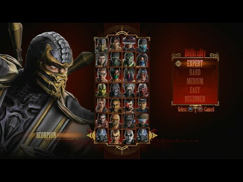 Mortal Kombat 9 - Expert Arcade Ladder (Scorpion/3 Rounds/No Losses)