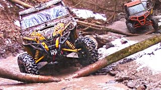 Side by Side Trail Riding - Forest Frenzy - Polaris RZR XP 1000/900 + Can-Am Maverick X DS Max