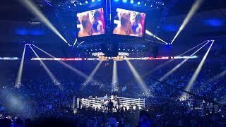 世界ボクシング評議会(WBC)フライ級の比嘉大吾VSクリストファー・ロサレス TKO瞬間 会場雰囲気