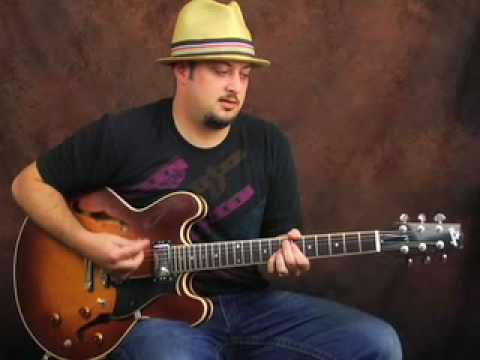 Learn the Funk electric guitar lesson rhythm and strumming