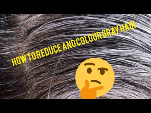 Gray hair covering and colouring with natural ingredients