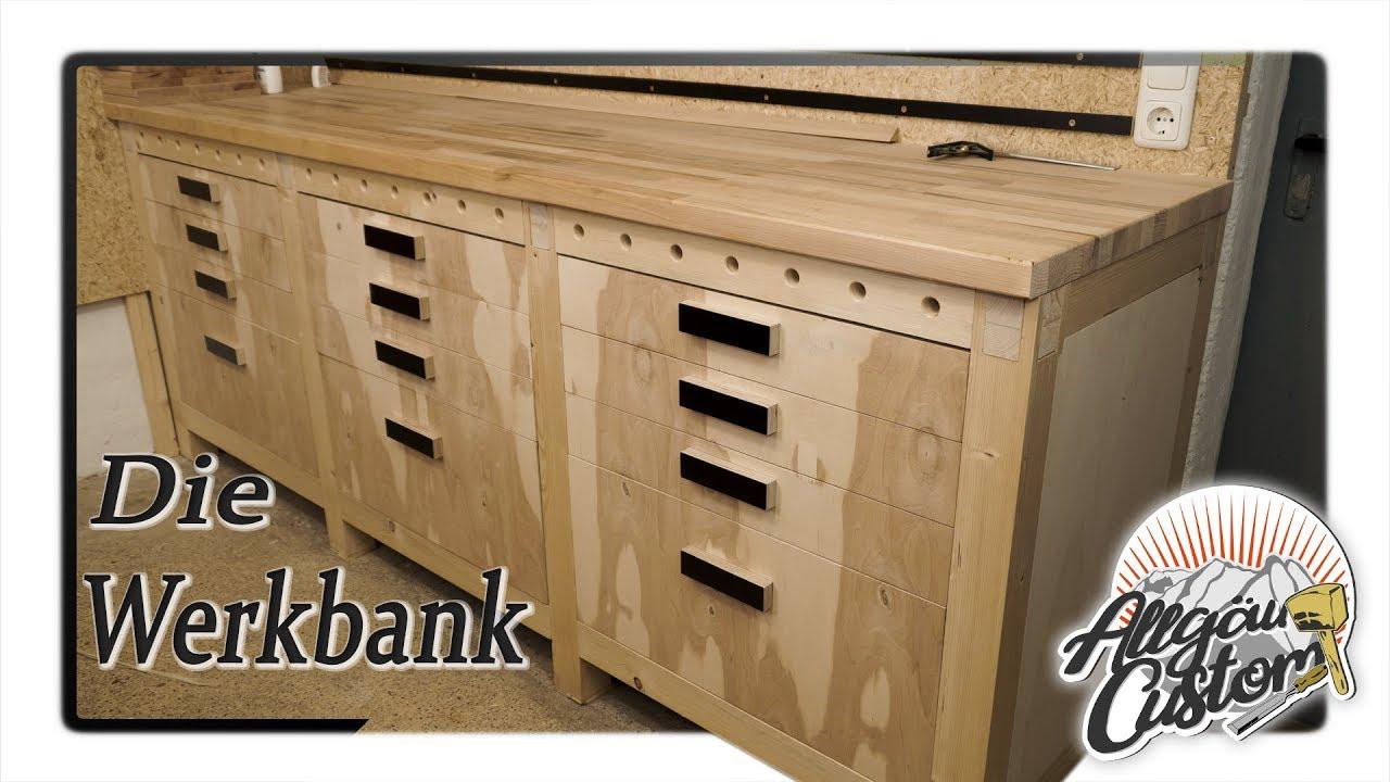 Stabile Werkbank selber bauen | How to build a Workbench ...