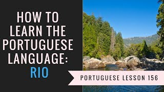 how to learn Portuguese (rio)