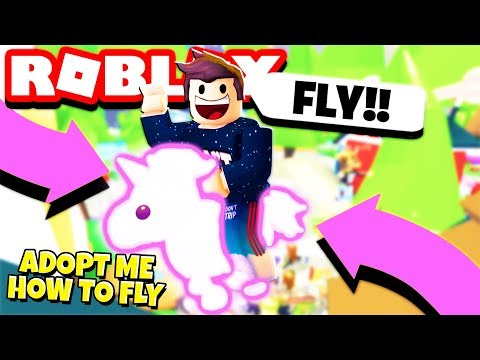 How to FLY in Adopt Me! Flying NEON UNICORN Pet (Roblox)