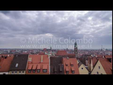 0051 - time lapse - clouds over roofs in Nurberg - 4K
