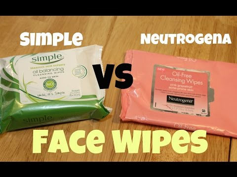 Comparing 2 Face Wipe Drug Store Products (Simple and Neutrogena)