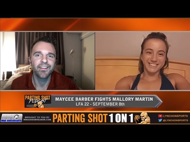 LFA 22's Maycee Barber talks Mallory Martin, training at Jackson/Wink & UFC aspirations