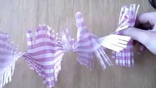 Новогодняя гирлянда из гофрированной бумаги