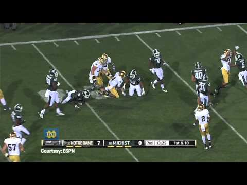 Reggie Brooks On Michigan - Notre Dame Football