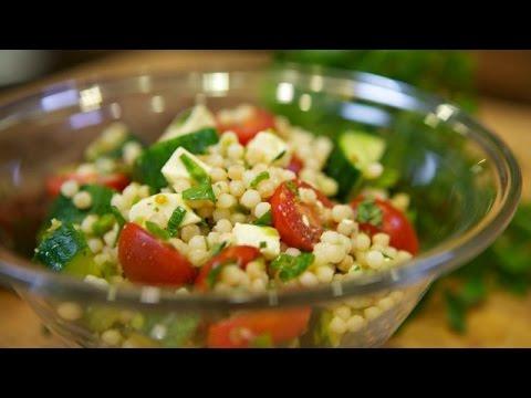 Israeli Couscous Summer Salad F/ LA Times Food Columist Russ Parsons