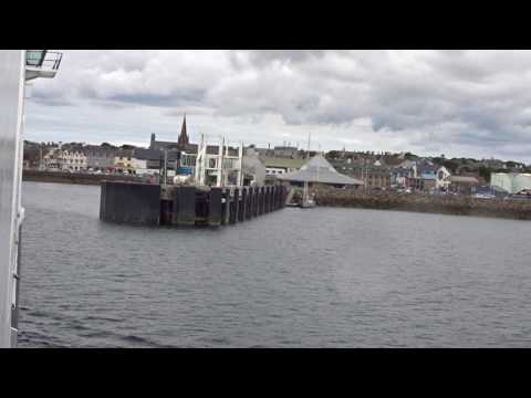 Arriving at Stornoway Ferry Terminal onboard Caledonian MacBrayne MV Loch Seaforth